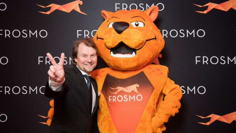 Frosmo CEO Mikael Gummerus has a reason to smile: the company is doubling its turnover every year.