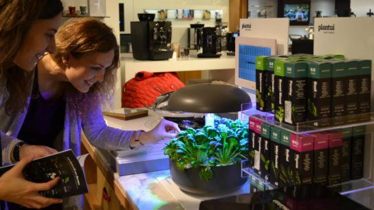 Plantui indoor gardens are stocked by a variety of retailers, including Harrods in London.