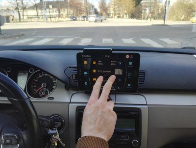 "Carrio optimises smartphone usage while driving, with such features as voice control. ""Everything you need while driving is just swipes away and allows the driver keep the eyes on the road,"" Salminen says."