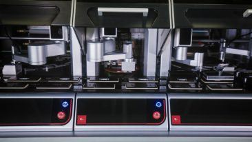 The Ginolis Lateral Flow Device Assembly can assemble multiple test devices with minimal product specific adjustments.