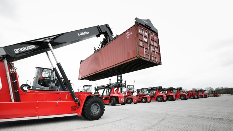 Kalmar's order includes reachstackers equipped with K-Motion transmission technology, which increases uptime and productivity while reducing fuel consumption and emissions.
