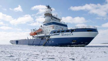 MSV Nordica is a multifunctional icebreaker designed for icebreaking, ice management a wide range of offshore work.