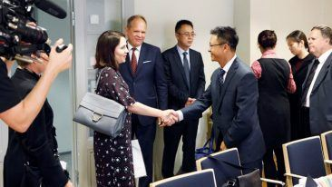 The Chinese delegation met the Finnish Minister of Education Sanni Grahn-Laasonen during the trip.