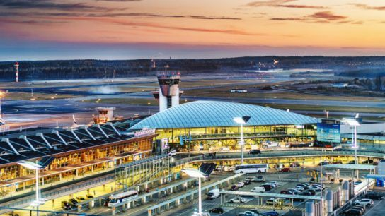 Helsinki Airport has numerous direct flights to various destinations in China.