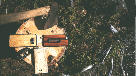 The wood used in the phone cases is made as thin as possible, hence the company name referencing 'lastu', which is Finnish for 'sliver'.