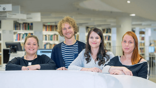 (l to r) Hanna Rinne, Olli Vallo, Marika Kuukkasniemi and Saila Juuti created the Kokoa Education Standard to help teachers and learners find the best possible digital tools for learning.