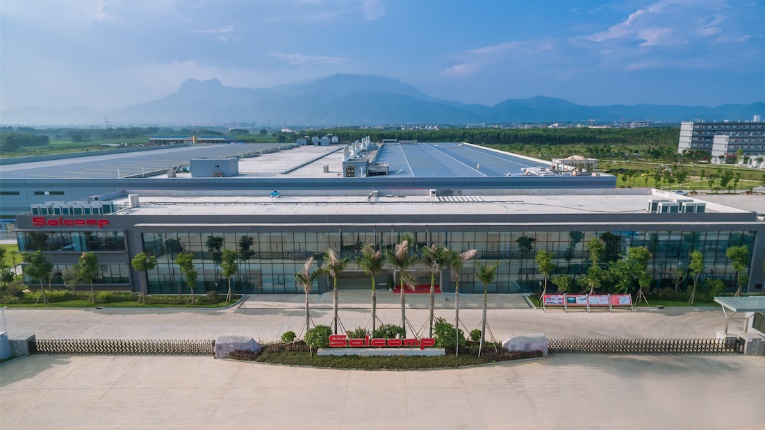 The 85 000-square metre plant in Guigang has a production capacity of more than 350 million chargers a year.