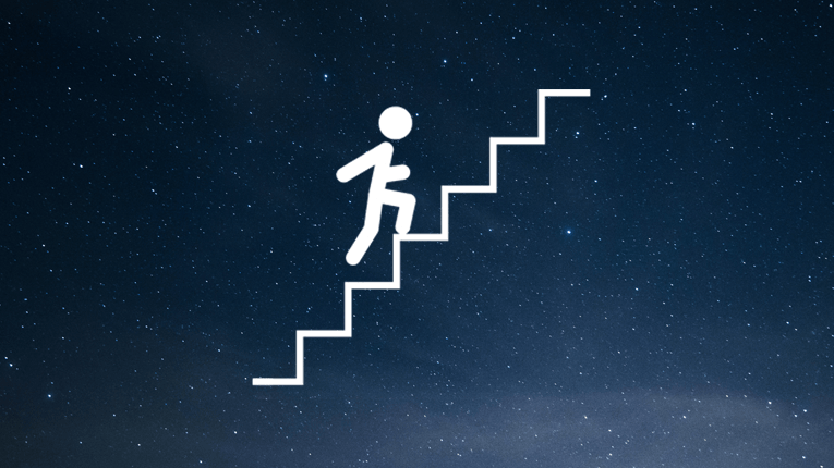 Climb stairs into space! By using motivational tools, Stairforce wants to make the world a better place one stair at a time.