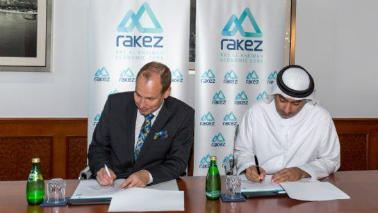 The land leasing agreement was signed on 3 October by Peikko Group's CEO Topi Paananen and Sheikh Ahmad Bin Saqr Al Qasimi, chairman of the Ras Al Khaimah Economic Zone (RAKEZ).