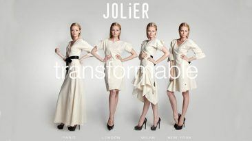 JOLIER garment can be reversed, transformed or adjusted to fit many different types of occasions.