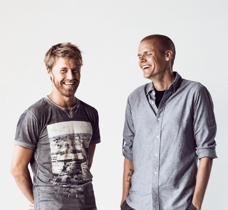 """With Gigglebug we have achieved something no-one has done before,"" says Anttu Harlin (left, pictured with co-founder Joonas Utti). ""It is the biggest animated kids' series ever made in Finland."""