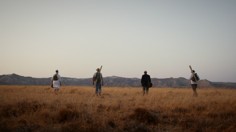 The four protagonists of Rax Rinnekangas' latest film go on a quest to the desert to save quality literature from modern society.