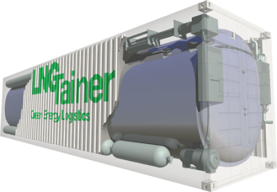 The core innovation in Sommardal's LNG container is moving its insulation from the outside to the inside of the pressure tank, which improves its energy-efficiency and storing capabilities.