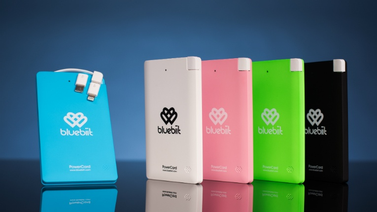 Bluebiit products range from reserve power supplies, earphones, sports accessories to a liquid coating that protects the screens of mobile devices.