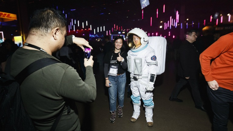 Astronauts from Space Nation were just some of the visual delights at Slush.