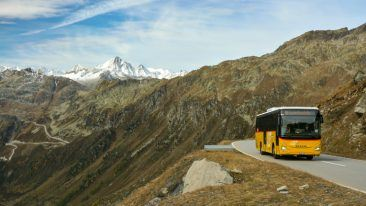 The yellow Postbuses are part of Switzerland's cultural identity.