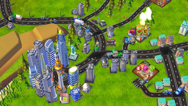 Transit King is a tycoon game, where players attempt to build the world's largest logistics company.