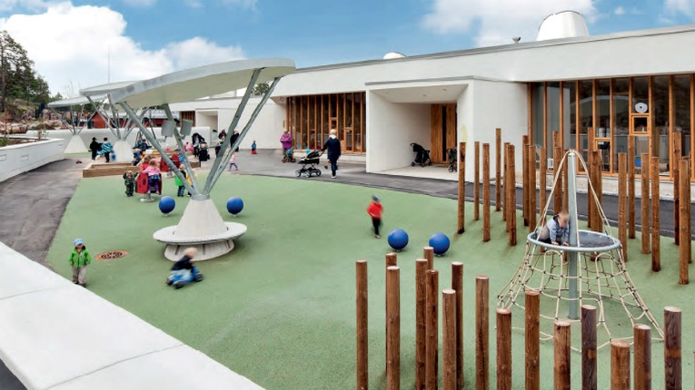 Lehto's day care centres are built of modules.