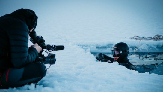 For Life in Four Elements, Teemu Liakka (left) filmed under extreme conditions. Johanna Nordblad (right) is one of the stars of the film.