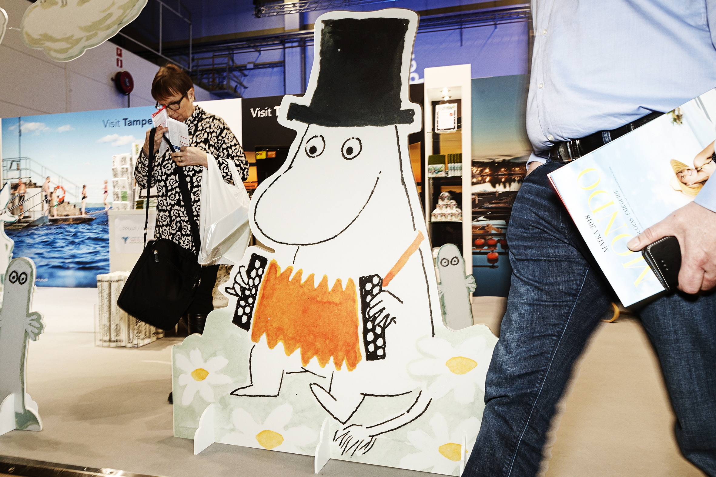 The city of Tampere, with its recently established Moomin Museum, and Naantali, the home town of Moomin World, naturally featured Moomins at their stand. Nothing wrong with that – they can easily be counted as some of the most famous global notabilities to have come from Finland.