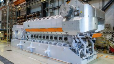 The Wärtsilä 31SG engine is the world's world's most efficient four-stroke gas engine, introduced after the success of its diesel counterpart Wärtsilä 31.