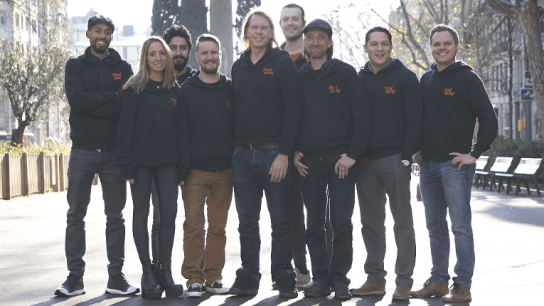"""""""We have a solid software that gives hosts full control over pricing and booking schedules,"""" states Marcus Räder (centre)."""