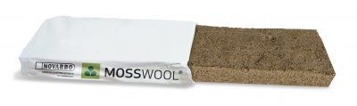Novarbo's Mosswool slab provides an efficient and sustainable substrate for various vegetables. The slabs are made of sphagnum moss, are fully recyclable by composting and need less frequent watering than currently commonly used growing media.