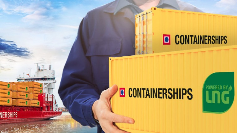 Containerships is a full-service logistics company that provides door-to-door container transport in the Baltic Sea, North Sea and Mediterranean.