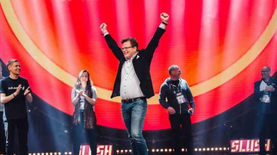 Altum won the pitching competition at Slush 2017, one of the world's largest startup events, held in Helsinki every year. Pictured is Altum's Bo Malmberg.