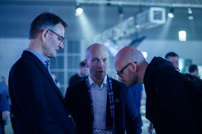 """""""Finnish companies are true trailblazers in the virtual and augmented reality space,"""" says Business Finland's Marko Salonen (centre)."""