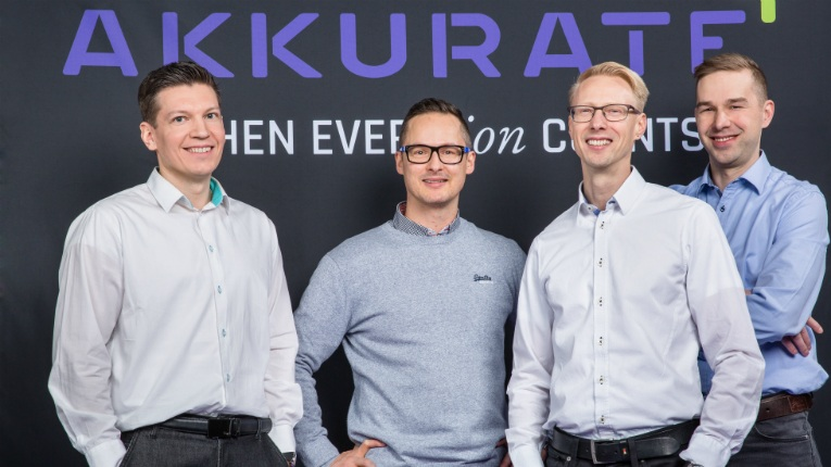 Akkurate's leadership. From left: Kimmo Valo, Lauri Pulkkinen, Mika Kanninen and Jari Koskinen.