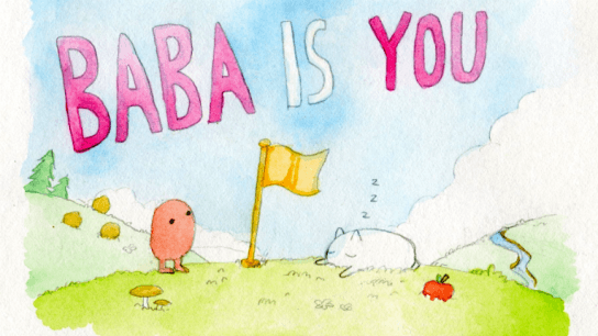 Baba Is You is an indie puzzle game where rules can be manipulated and goals change quickly. It won the 2017 Nordic Game Jam event and is now competing for the grand prize at the Independent Games Festival in San Francisco.