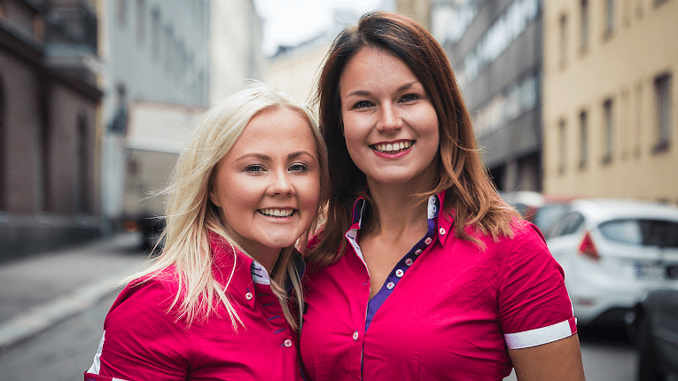 At the moment, Cuckoo Workout is used in about a dozen countries, with more in the pipeline. Pictured are founders Ida Mänty (left) and Veera Lehmonen.