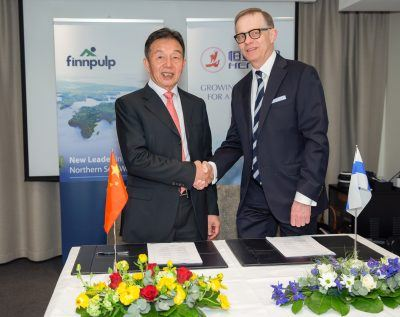 CEOs Hui Lin Chit (left) and Martti Fredrikson
