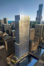 A 54-story tower in Chicago will be equipped with KONE's elevators and hoisted using KONE's UltraRope technology.