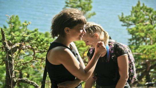 Alvi Haapamäki (left) and Rosa Honkonen play two young women in search of genuine love, sabotaging shallow weddings as they go.