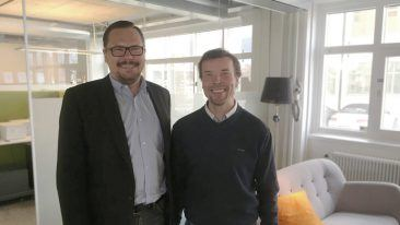 Taika Company's CEO Pasi Sampakoski and SolunaBC COO and Wholesale manager Andreas Johnsson are satisfied with the deal.