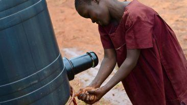 The elephant faucet enables better hygiene and conserves water, reducing the time needed to fetch water.
