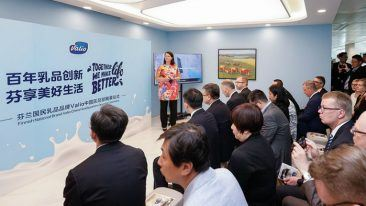 The unveiling ceremony for Valio China's new head office in Shanghai took place on 16 May.