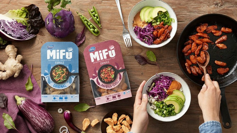 Valio MiFU strips can be used as a substitute for meat or chicken. They don't require pre-preparation or pre-cooking, and are best served in a hot meal.