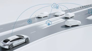 Bosch's road-condition services will initially rely on road weather data from Foreca, but with more connected cars they will be augmented with vehicle data.