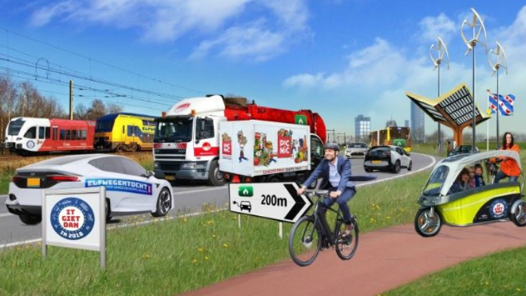Neste is providing renewable diesel for the Elfwegentocht event in the Netherlands, where citizens of Friesland will travel fossil-free for two weeks.