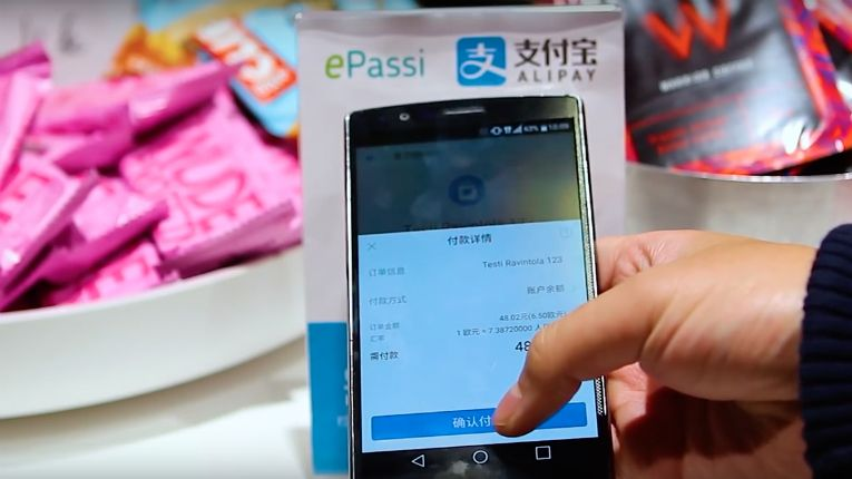 Retailers in Finland are able to accept payments from customers using Alipay, with the combined ePassi-Alipay mobile payment service.