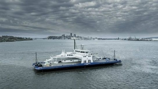 The MV Armand-Imbeau II ferry fitted with a wide range of Wärtsilä solutions, runs on LNG fuel and will operate on the Saguenay river in Quebec, Canada.