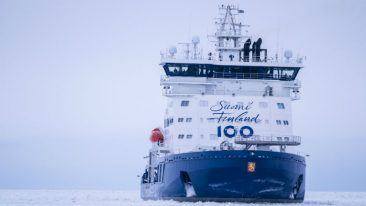 The IB Polaris icebreaker was completed last year, in time for Finland's centenary celebration.
