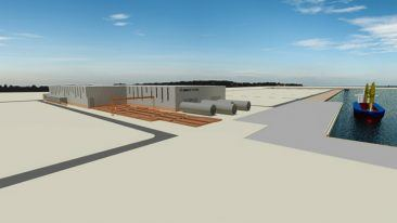 A 3D illustration of ASMI's new production facilities.