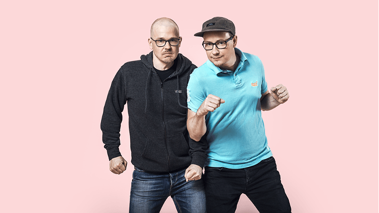 Co-founders Sami Linnanvuo (right) and Tuomas Tammi lead a team of five and serve 250 customers in 40 different countries.