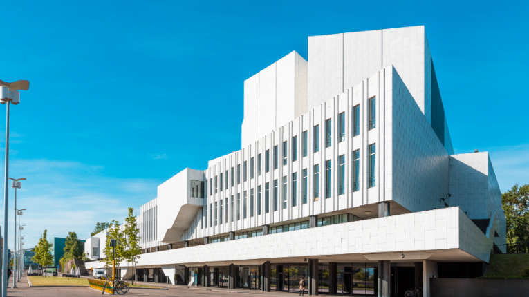 Finlandia Hall is an iconic multipurpose venue in Helsinki designed by Alvar Aalto.