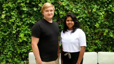 Iranthi Gomes (right) and Jarkko Oksanen. The long-term goal of Serviceform is to create a solution that changes how small businesses communicate with their customers.