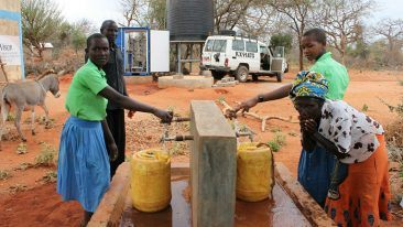 The SolarRo system produces on average 8 000 litres of drinking water per day from the Kasaini borehole, which is expected to serve the local community for at least the next 10 years.